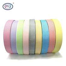 HL 1(25mm) 5 Meters/lot Lattice Grosgrain Ribbons Wedding Party Decorative Gift Wrapping DIY Chilren Hair Accessories