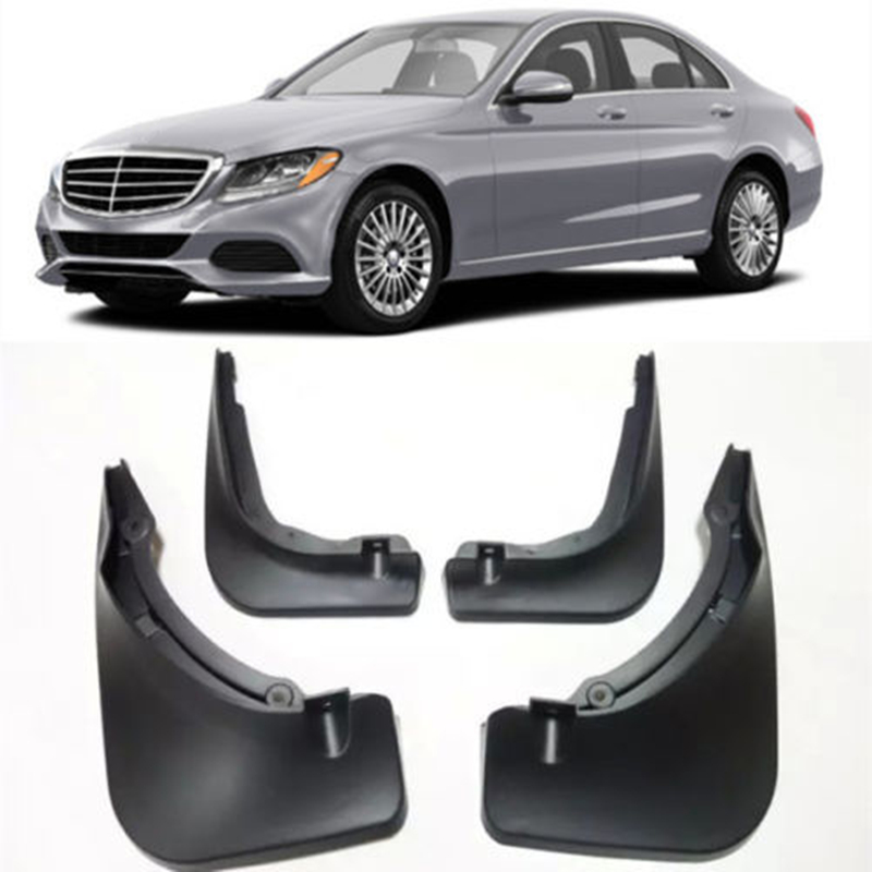 Car Splash Guards Mud Guards Flaps Fit For 2008-2018 Mercedes Benz C Class Sedan W205 W204 Fender цена