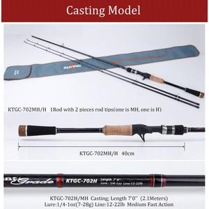 Image 3 - KUYING 2.1Mการแข่งขันคู่เคล็ดลับMH H Hard Casting Spinning Lure Fishing Rodคาร์บอนไฟเบอร์Cane Pole Stick Medium fast 7 28G