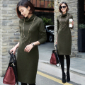 Women package hip long-sleeved dress sexy hot knee-length dress