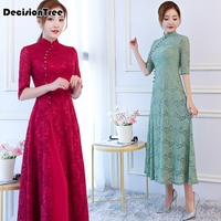 2019 new red woman aodai vietnam traditional clothing ao dai vietnam dress vietnam costumes improved cheongsam