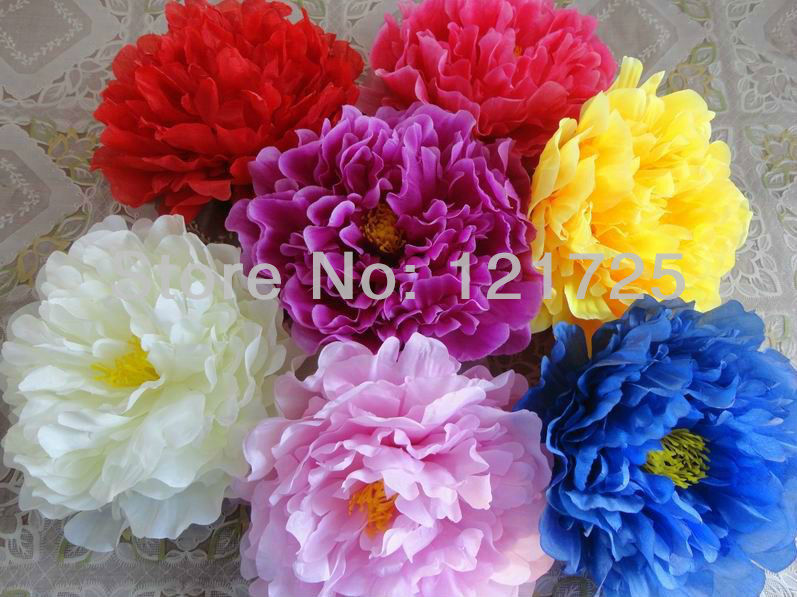 17cm Big Peony Flowers Head Artificial Silk Flowers In