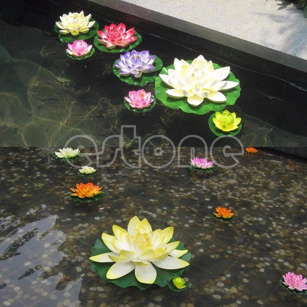 Floating Lotus Flower Aquatic Fish Tank Ornament Aquarium Garden Pond Decor New