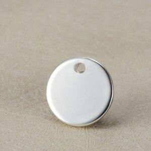 Image 5 - La coutume blanche de pendentifs en acier inoxydable détiquette ronde de 12mm gravent le logo avec la petite quantité