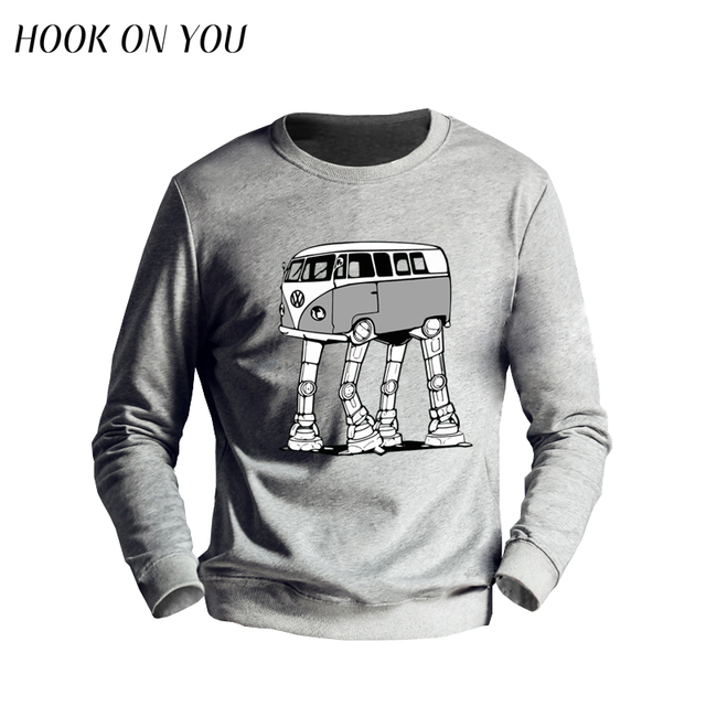 2017 Fashion Hot Men Sweatshirts VW AT-AT Imperial Walker Printed O-Neck Hoodies Novelty Man Outerwear Casual Clothing Cool Tops