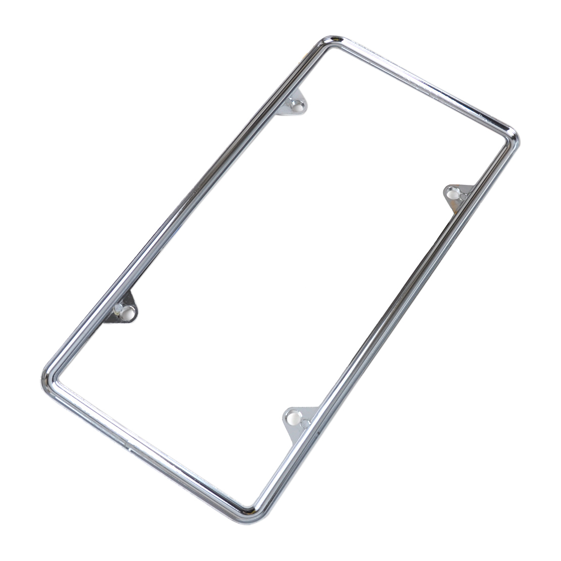 Jeep Cherokee Slim ABS Plastic License Plate Tag Frame Mirror Chrome Screw Cap