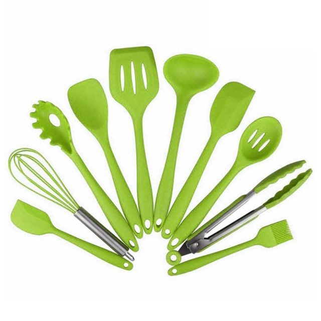 10 Pcs Kitchenware Silicone Heat Resistant Kitchen Cooking Utensils Non Stick Baking Tool Cooking Tool Sets