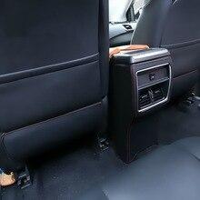 3 UNIDS estilo coche DIY Nuevo cuero de LA PU especial asiento trasero kick pad caso de la cubierta de pegatinas para nissan murano 2015 parte accesorios