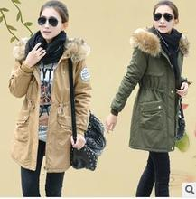 2017 Winter Coat Women thickening female cotton-padded jacket clothes wadded jacket women's fur collar coat