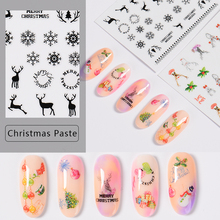 T-TIAO CLUB 3D Nail Stickers Art Christmas Decals Snowman Wraps Snowflakes Adhesive Slider Manicure Decoration Tip Tool