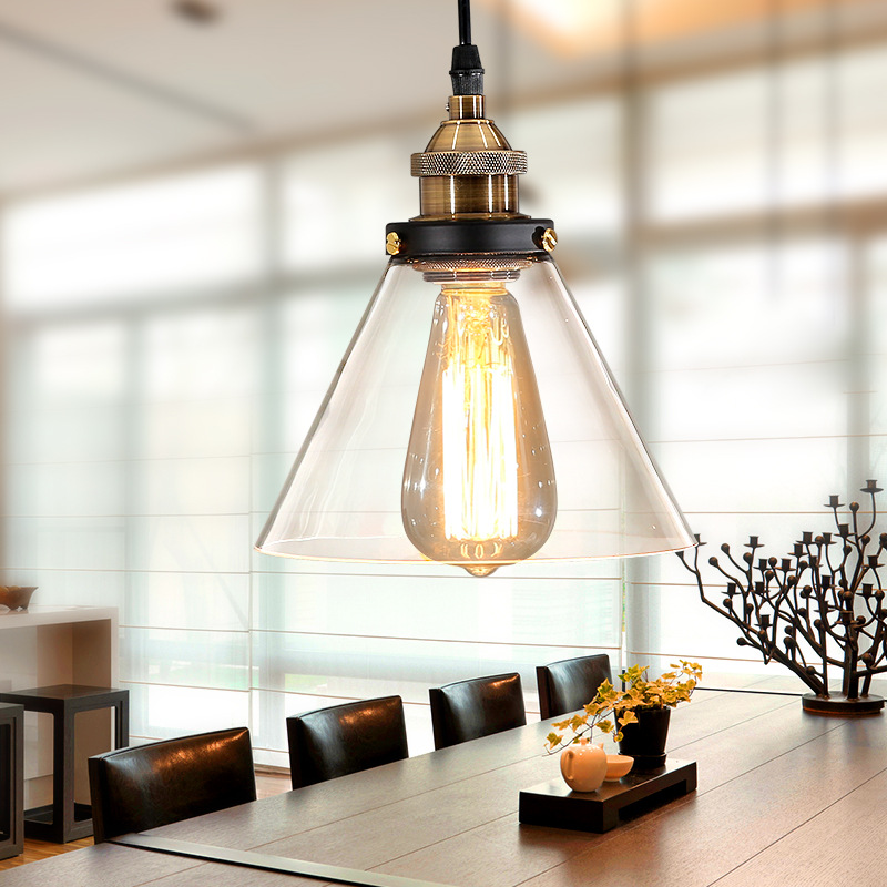 Aliexpress.com : Buy Vintage Pendant Lights Glass Pendant Lamp ...