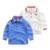 El niño de manga larga camisa de polo de rayas niños 2017 nueva primavera ropa de abrigo de algodón bebé camiseta.