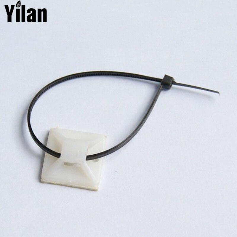 500 stücke 25x25mm Weiß Kabelbinder Kabel Draht Abnehmbaren ...