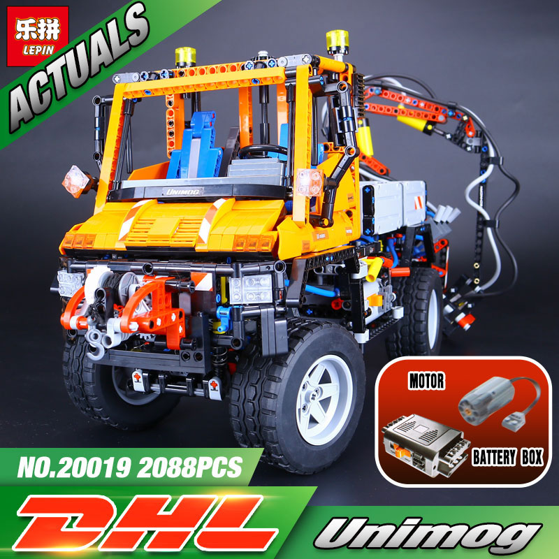 2017 New LEPIN 20019 2088Pcs Technic Series The Truck U400 Model Building Kits Blocks Bricks Compatible Eucational Toys 8110 free shipping lepin 21002 technic series mini cooper model building kits blocks bricks toys compatible with10242