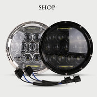 1PCS 7''INCH Harley led headlight with White/Yellow DRL for Harley Motorcycle headlamps