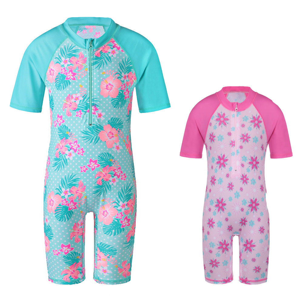 Baby Girls Rashguard Kids Swimwear Қыздар One Piece Swimsuit Күн Қорғанысы (UPF50 +) Балалар үшін Балаларға арналған Костюм Балалар Жағажайы