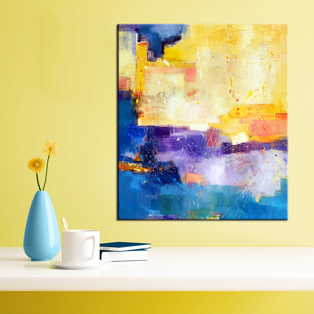 QKART Wall Art Pictures Canvas Colorful Painting Large Abstract Oil ...