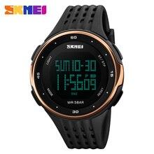 Skmei marca de relojes hombres 50 m natación impermeable escalada deportes al aire libre de alarma led digital reloj militar hombres mujeres reloj