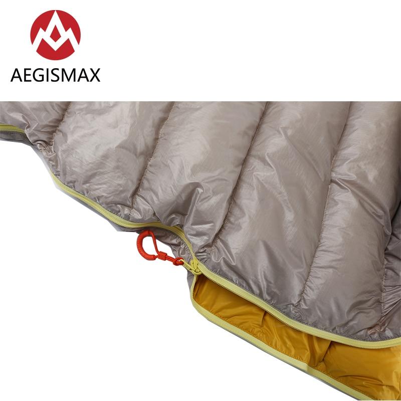 AEGISMAX LETO серия для отдыха на открытом воздухе для взрослых Сверхлегкая Мумия 700FP ультра сухой гусиный пух Весна Осень спальный мешок ленивый ...