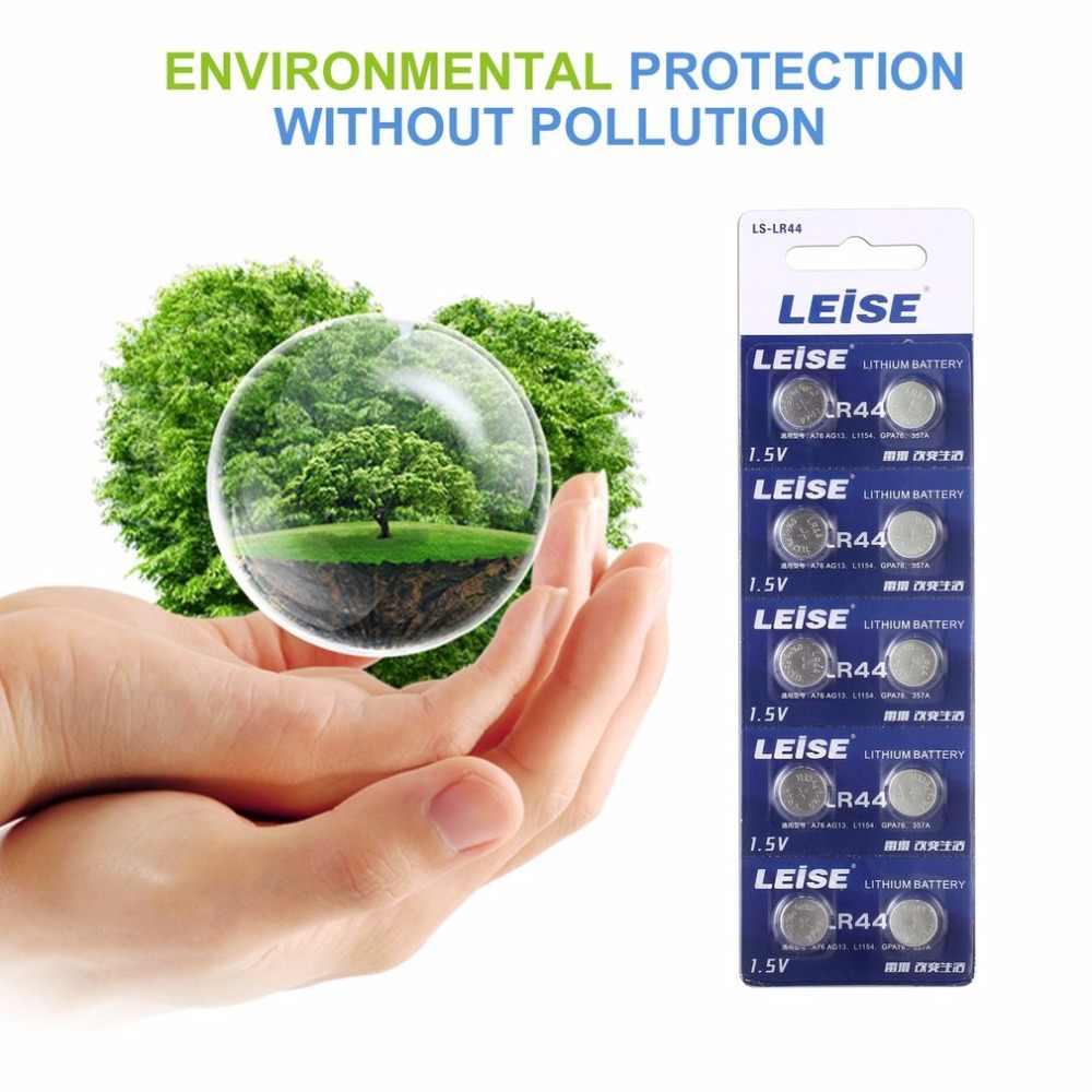 10 chiếc/thẻ Leise LR44 1.5V Nút Cell Lithium Pin cho Đồng Hồ Từ Xa Điều Khiển Máy Tính PDA Máy Tính Máy Ảnh nhỏ gọn
