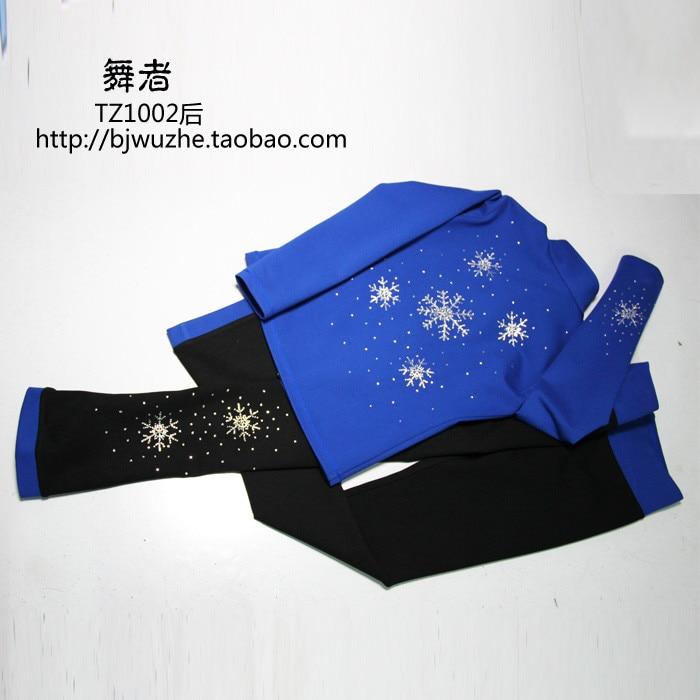 Azul vestidos de patinaje sobre hielo para niñas venta caliente - Ropa deportiva y accesorios