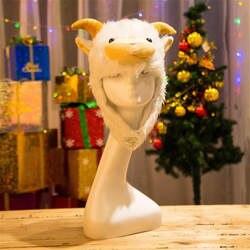 Mountain шерсть бархатная шляпа с капюшоном животного для фотосессий Косплей Плюшевые игрушки hat Рождество Хэллоуин платье для дня рождения до