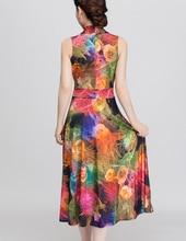 2018 Summer Style Women Floral Print Dress V-neck Sleeveless Wrap Fit And Flare Sundress Long Beach Vestidos Dresses