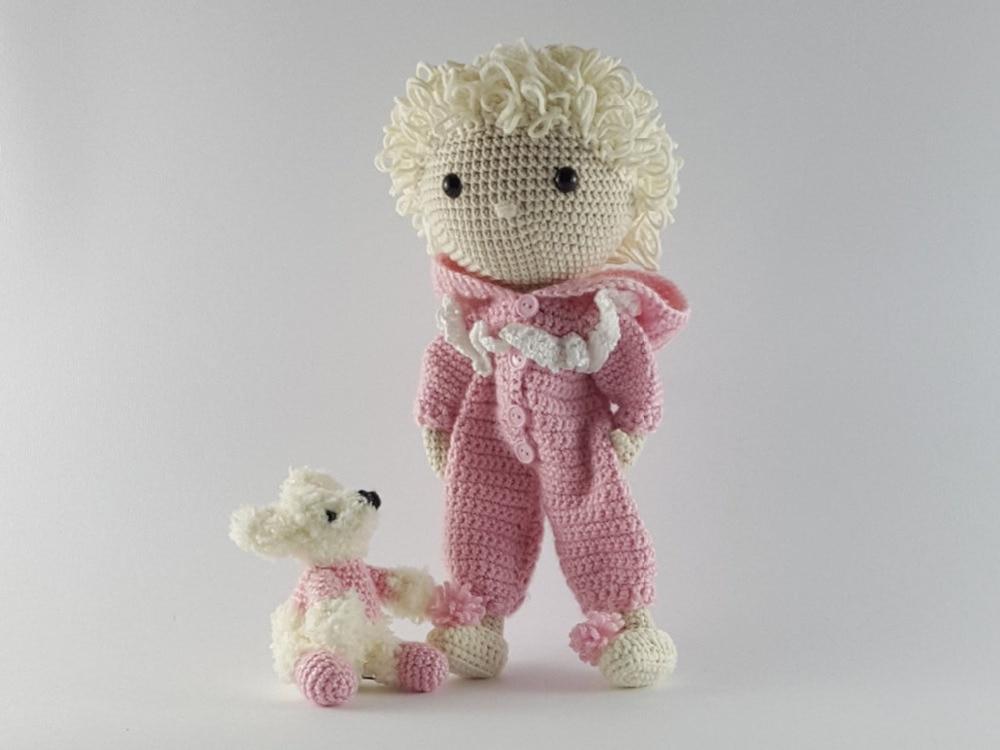 Crochet giocattoli amigurumi bambola maiale sonaglio numero di modello XG041217Crochet giocattoli amigurumi bambola maiale sonaglio numero di modello XG041217