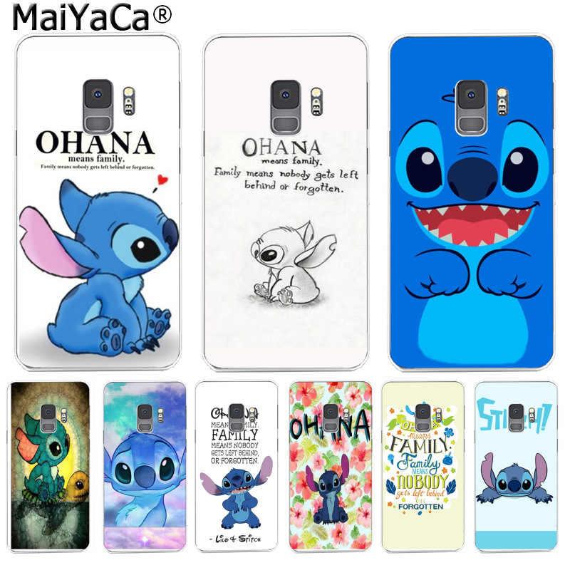 MaiYaCa Linda puntada Ohana caja del teléfono de la moda para Samsung S9 S9 más S5 S6 S6edge S6plus S7 S7 Edge S8 S8plus