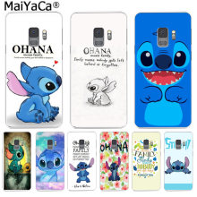 MaiYaCa cute Stitch Ohana Fashion Phone Case for Samsung S9 S9 plus S5 S6 S6edge S6plus S7 S7edge S8 S8plus(China)