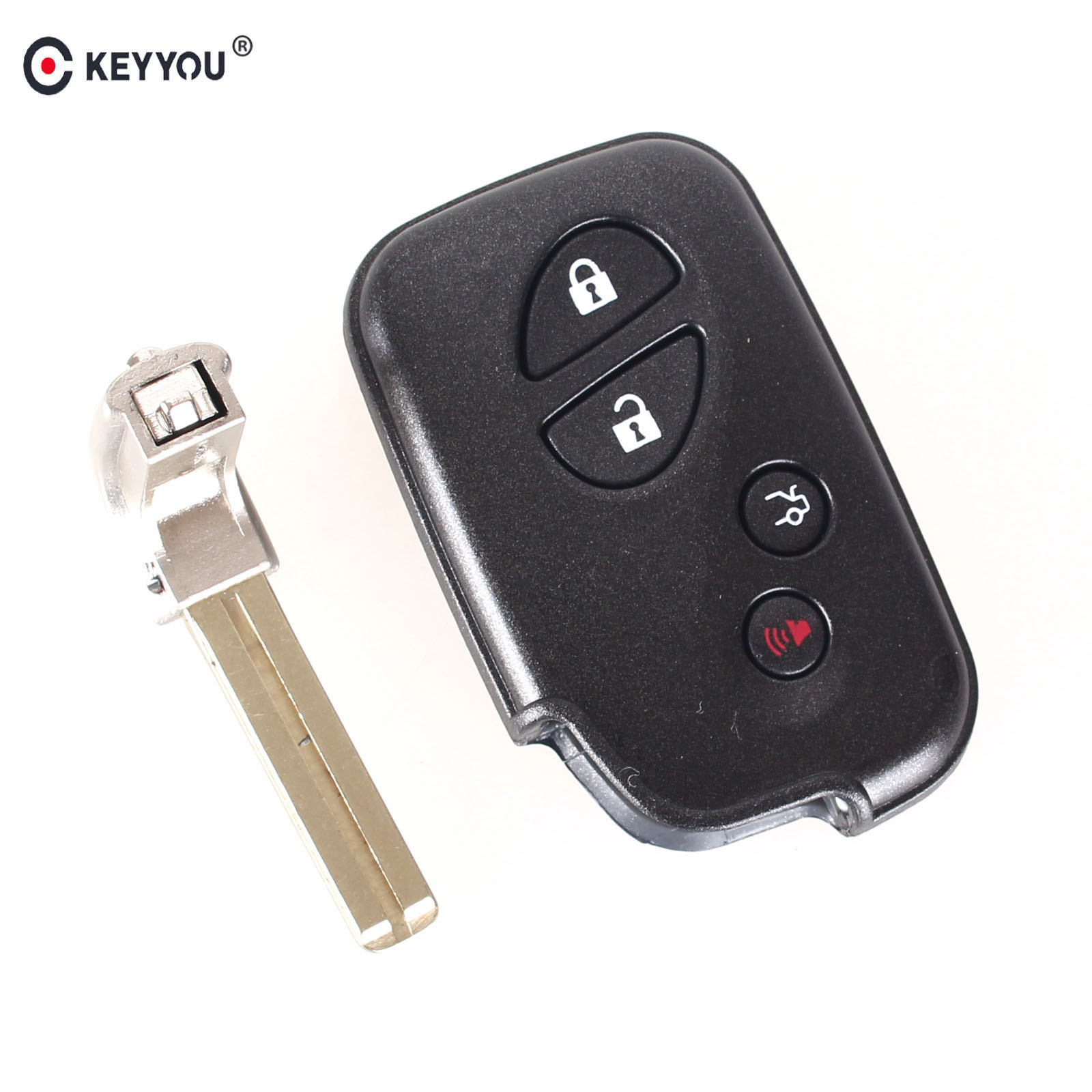 KEYYOU Replacement Shell 4 Buttons Smart Remote Key Fob Case For Lexus GS430 ES350 GS350 LX570 IS350 RX350 IS250 + Blank Key цены
