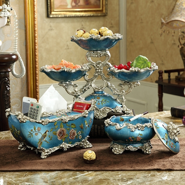 American Table Three Pieces Set Of Home Furnishings Creative Arts And Crafts Decor Retro Luxury