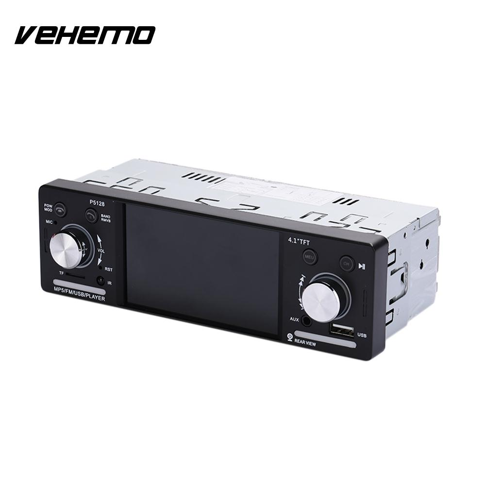 4.1 Inch P5128 MP5 Player Car Video Player Car Kit Car MP5 Stereoscopic Sound Effect Music Player Premium FM Transmitter