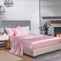 100% Mulberry Silk 25 mm Seamless White Beige Coffee Champagne Pink Colors King Queen Size Fitted Sheet 1 Piece Customize MS03
