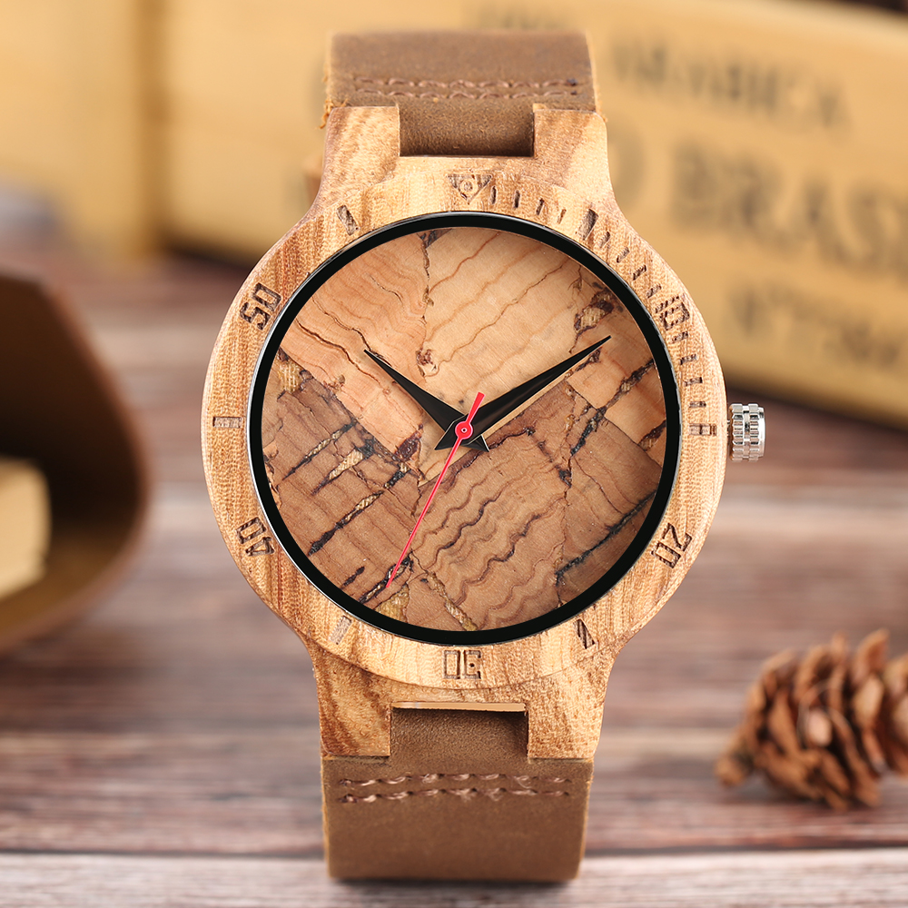 Bamboo Wooden Men's Wrist Watch Hot Brand Handmade Nature Wood Quartz Creative Watches Crakle Dial Tmber Bangle Clock Boys Males top brand nature wood bamboo watch men handmade full wooden creative women watches 2018 new fashion quartz clock christmas gifts