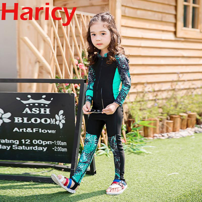 Child Swimwear One Piece Boys Girls Swimsuits Kids Bathing Suits Long Sleeve Long Pants Swim Surf Kids Stinger Suit UPF50+ uv