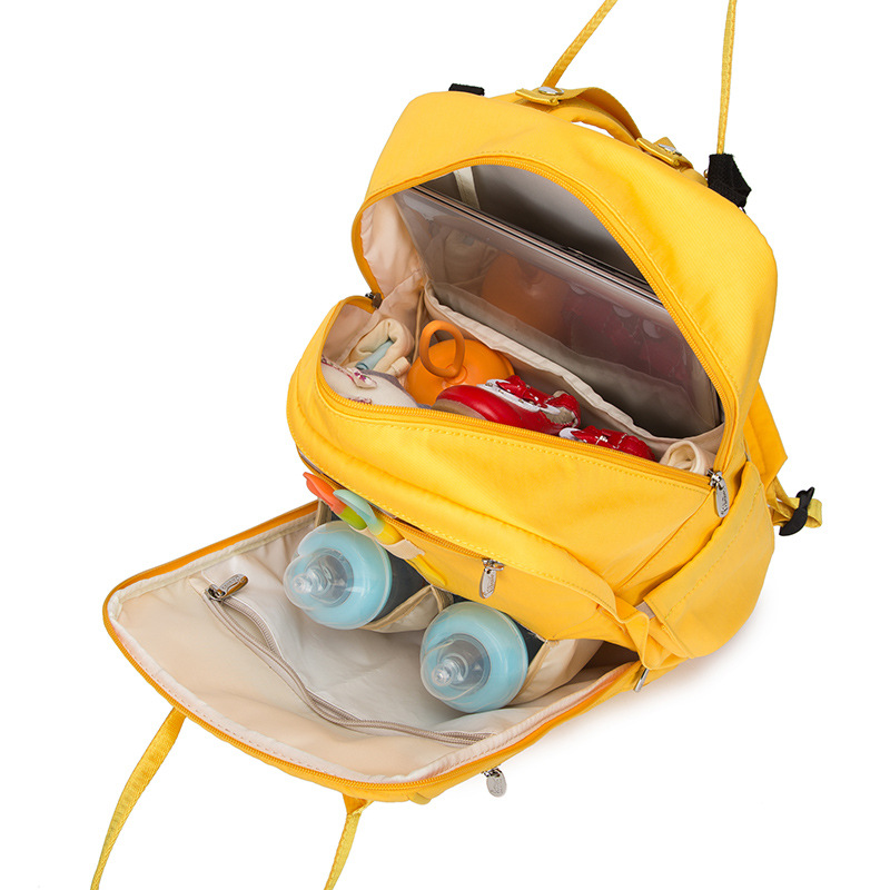 Functional Large Capacity Mommy Mother Dad Diaper Bags Multi-Pocket Backpack Nappy Bag For Bottle Outdoor Infant Baby Diaper Bag