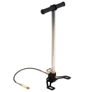 Image 2 - 4500psi 3 Stage Air  Gun Hand Pump Stirrup Charging Gas Filter Gauge Valve Hose Used For Driving Cylinder