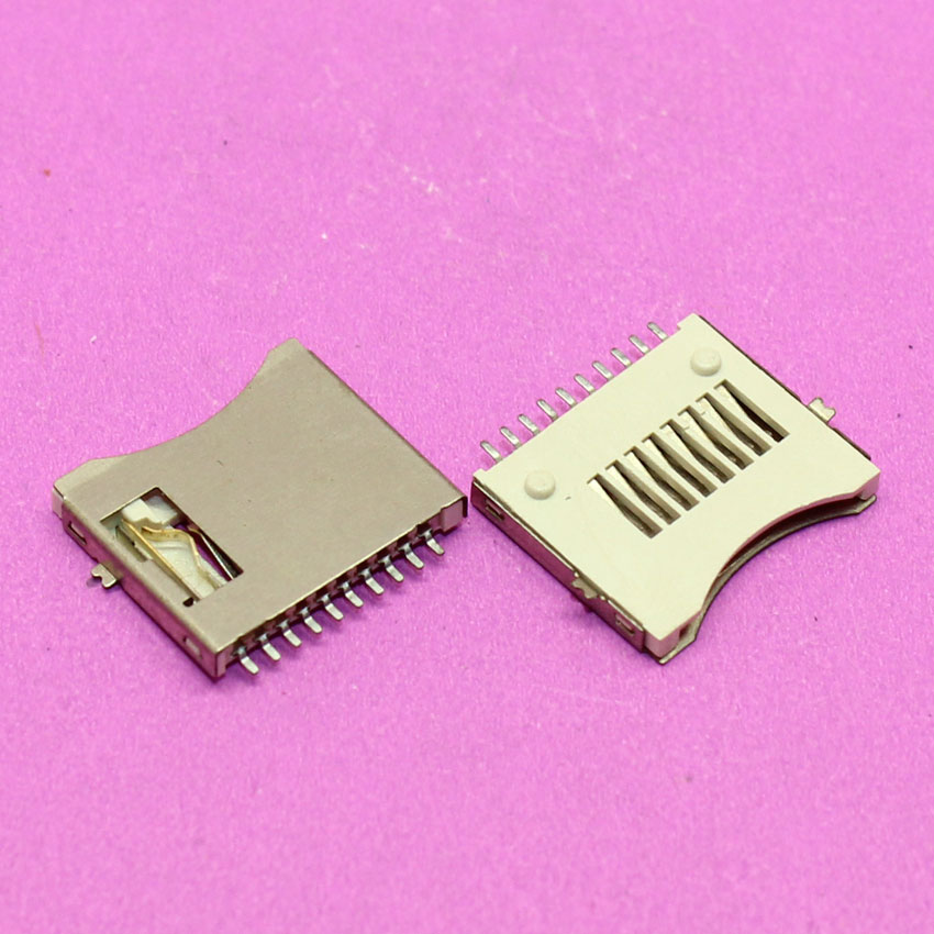YuXi Brand New 10Pin T-Flash card reader holder socket tray slot connector replacement.
