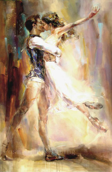 Top Artist Handmade Modern Abstract Portrait Figure Draw Wall Art Decor Sexy Couple Dancer Kisses Knife Oil Painting on Canvas