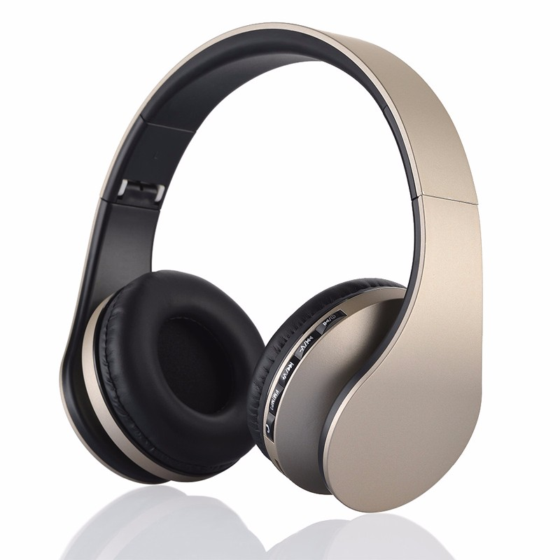 Headband headphones Wireless Stereo Earphone Bluetooth 3.0 headset +EDR with Mic MP3 FM Radio for Smart Phones Tablet PC LH-811