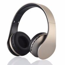 Headband headphones Wireless Stereo Earphone Bluetooth 3.0 headset +EDR with Mic MP3 FM Radio for Smart Phones Tablet PC LH-811