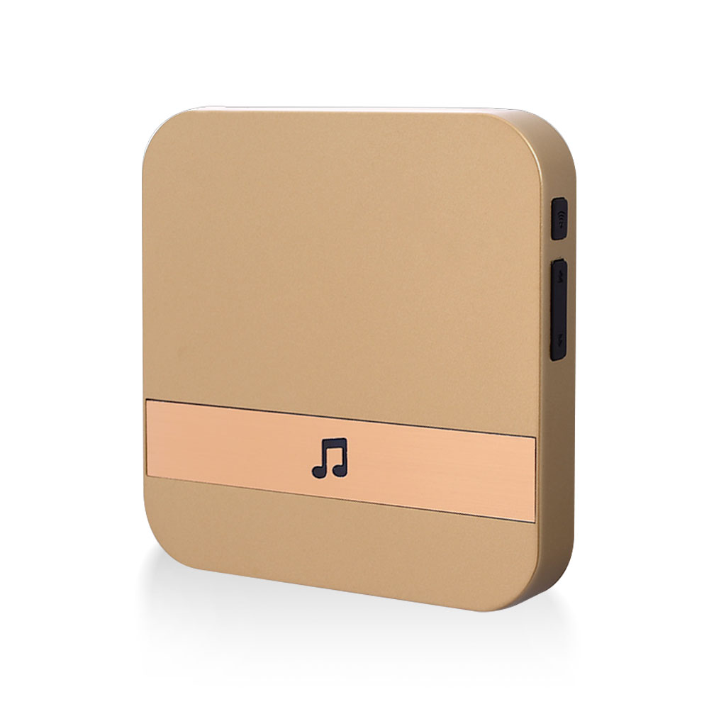 Visual Doorbell Chime Gold Visitors Universal Wifi Doorbell Chime Waterproof Wifi Doorbell Plug-In Chime Market 433.0MHz
