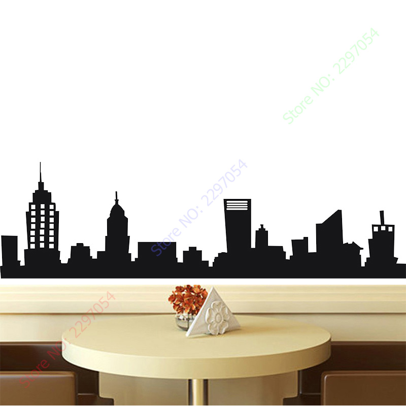 Free Shipping NEW YORK CITY NYC SKYLINE Mural Vinyl Wall