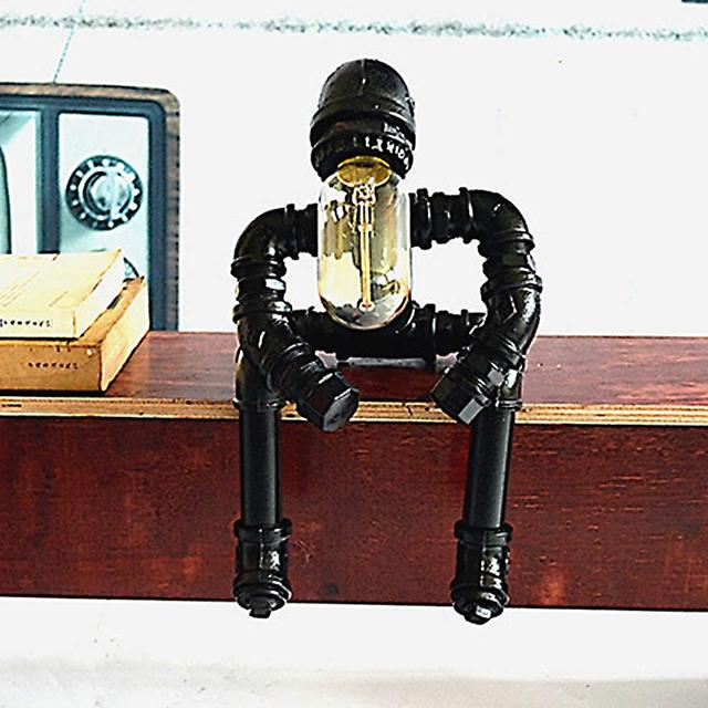 Antique Wrought Iron Table Lamp Decorative Creative Retro Desk Lamp For Study