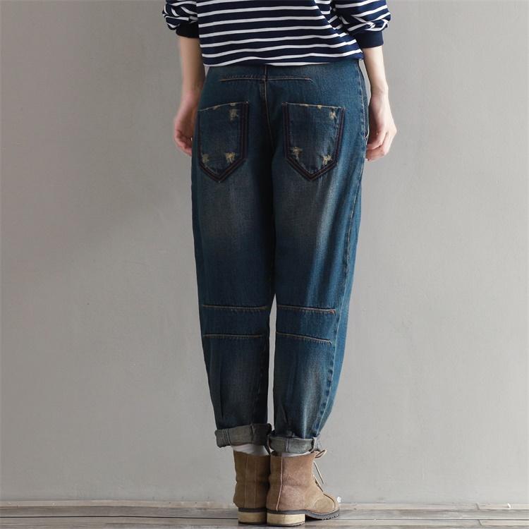 17 Winter Big Size Jeans Women Harem Pants Casual Trousers Denim Pants Fashion Loose Vaqueros Vintage Harem Boyfriend Jeans 8
