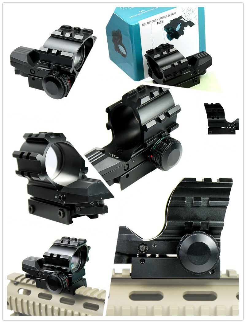 Tactical Holographic 4 Reticles Projected Red Green Dot Reflex Sight Scope