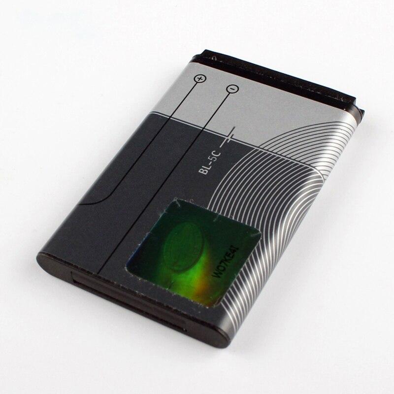 Original BL-5C bateria do telefone para Nokia 1000 1010 1108 1110 1112 1116 E50 E60 BL5C N70 6680 2020 6267 1020mAh