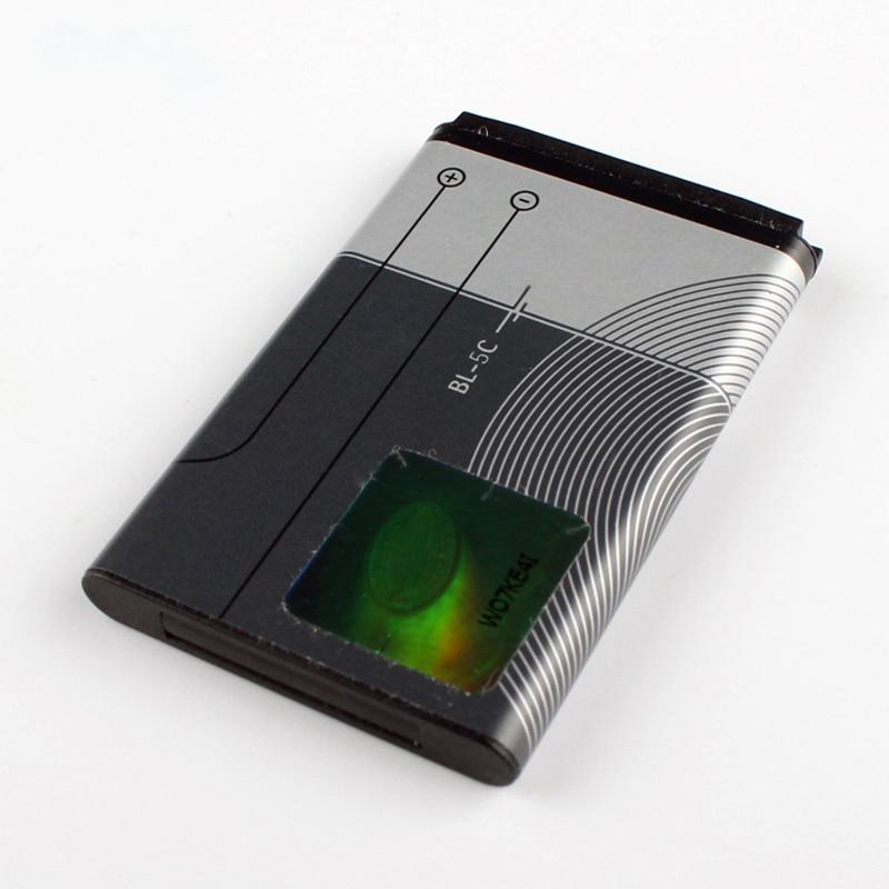 Original BL-5C Phone Battery For Nokia 1000 1010 1108 1110 1112 1116 E50 E60 N70 6680 2020 6267 BL5C 1020mAh