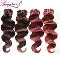 #2/#4/#33/#99J Coloful Brazilian Virgin Hair Body Wave 4 Bundles Burgundy Brazilian Hair Dark/Medium Brown Human Hair Weaves